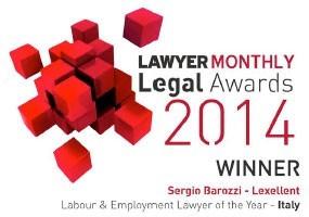 Sergio Barozzzi LawyerMonthlyLegalAwards21014