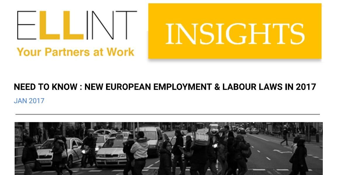 Quel che c'è da sapere sulle novità 2017 del diritto del lavoro in Europa.