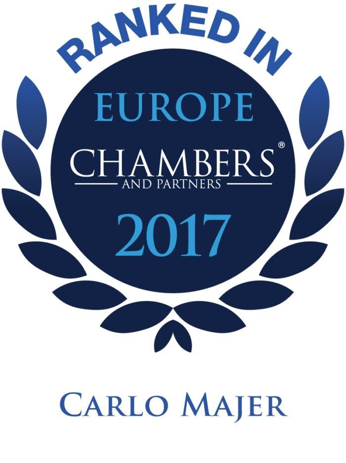 LEXELLENT - Chambers 2017 - Logo for Carlo Majer